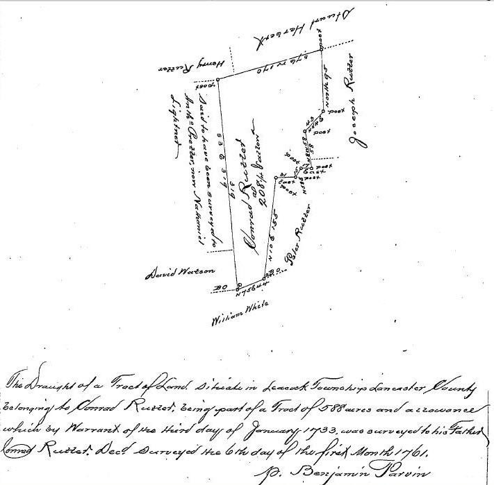 Conrad Rutter Jr. 1761 Survey